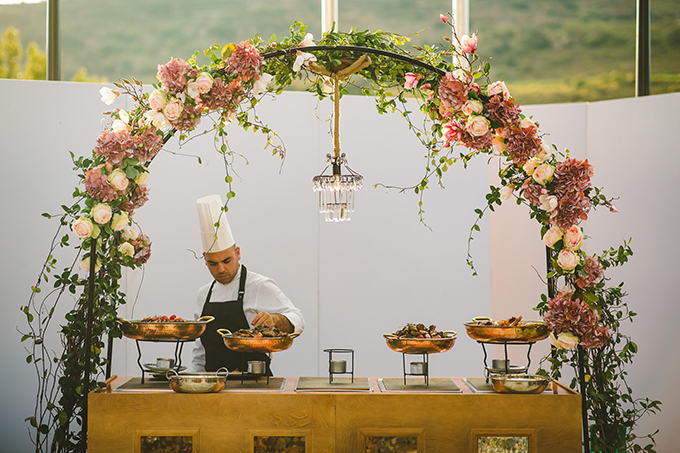 luxury cyprus wedding menu