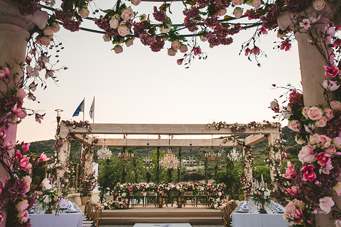 luxury wedding reception cyprus opulent flower decor